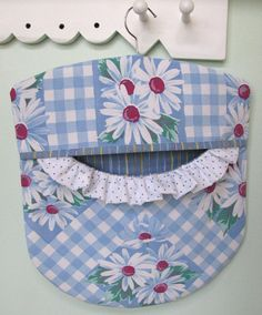 Laundry Day Clothes Pin Bag  Wood Hanger  by PerfectPieLady, $23.00