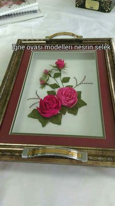 Ribbon Embroidery Tutorial, Diy Flowers, Diy Crafts, My Favorite Things, Model, Home Decor, Craft, Trays, Decoration Home