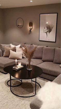 Classy Living Room, Beige Living Rooms, Living Room Decor Cozy, Home Living Room, Diy Bedroom Decor, Home Decor, Home Room Design, Interior Design Living Room, Living Room Designs