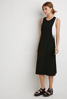 Textured Woven Jumper Dress   LOVE21   #f21contemporary