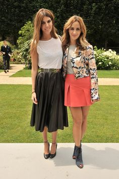 Bianca Brandolini d'Adda and Alexia Niedzielski [Photo by Stéphane Feugère]