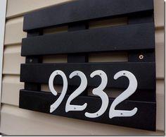 DIY Address Plaque