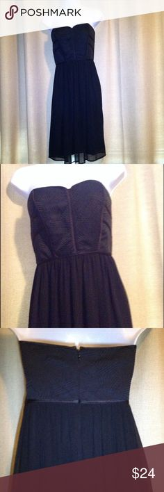"""Max and Cleo black strapless dress Sz 14 Max and Cleo black strapless dress size 14 approx measurements armpit to armpit 19"""" waist 16"""" long 34"""" excellent condition max and cleo Dresses Midi"""