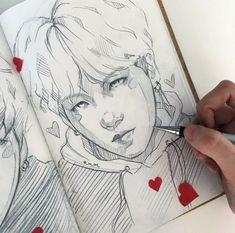 K pop arts Bts Art, Kpop Drawings, Illustration, Kpop Fanart, K Pop, Drawing Reference, Drawing Sketches, Art Inspo, Amazing Art