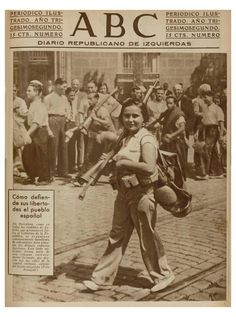 Spanish Civil War 1936-1939, ABC d'esquerres August, 1936. Photo by Josep Brangulí (Spanish, 1879-1945). Madrid.