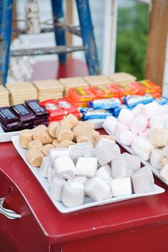 Smores Station.  This will definitely be a party I throw in the winter time!