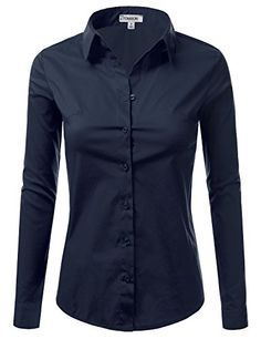 J.TOMSON Women's Collared Button Down Long Sleeve Dress Shirt NAVY S J.TOMSON http://www.amazon.com/dp/B01BII7BOU/ref=cm_sw_r_pi_dp_5vhexb1FW31JK