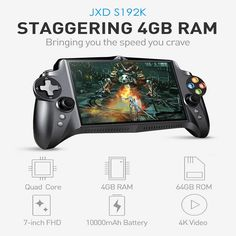 JXD S192K Handheld Game Players 7 inch RK3288 Quad Core 4G/64GB GamePad 10000mAh Android 5.1 Tablet PC Video Game Console-in Handheld Game Players from Consumer Electronics on Aliexpress.com | Alibaba Group