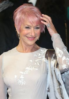 Older Woman with Pink Hair | Helen Mirren 'obsessed' with America's Next Top Model, dyed hair ...