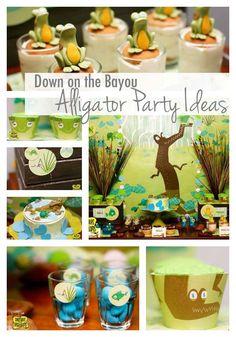 Alligator Party Ideas {Bayou Bash} - www.spaceshipsandlaserbeams.com