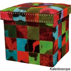The perfect accessory to any room, Medley Cubes are multi-colored hide-hair accent pieces that coordinate with Barclay's zippy Medley rugs. It's a side table, it's an ottoman, it is so much more. Thes