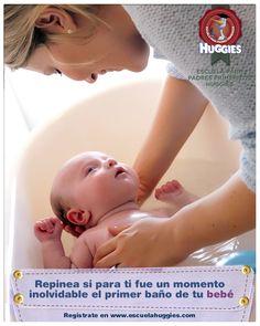 ¡Consejos imperdibles para bañar al bebé!  http://escuelahuggies.com/Historia/Consejos-de-seguridad-para-el-bano-del-bebe.aspx #maternidad #bebé