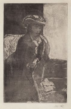 Mary Cassatt, The Corner of the Sofa (No. 3)