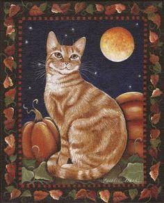 cat painting - Carolee Clark