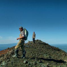 Atop a volcanic cone, near Mt Tobalchik, Russia.