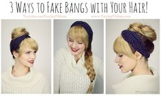 Fake Bangs Hairstyle Amazing How To Make Fake Bangs Hairstyle In 6 Easy Steps  Hmmm I Like This