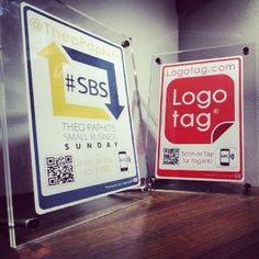 #SBS vs #logotag  Awesome to have collected the #SBS award chosen by #TheoPaphitis @Ryman Stationery #logotag #socialmediamarketing
