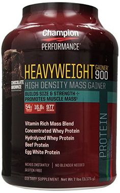 Champion Performance Heavyweight Gainer 900 Chocolate Brownie flavor 7 lbs *** Click image for more details.