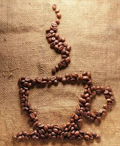 Coffee beans on burlap art great idea for using old coffee beans! Coffee Heart, Coffee Is Life, I Love Coffee, My Coffee, Coffee Drinks, Coffee Bean Art, Burlap Art, Coffee Crafts, Coffee Shop Design