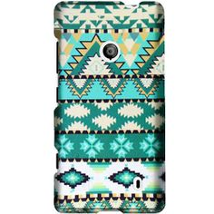 Mint Green Aztec Protector Case for Nokia Lumia 521