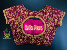 Best Blouse Designs, Bridal Blouse Designs, Henna Tattoo Hand, Hand Tattoos, Work Blouse, Saree Blouse, Flower Designs, Embroidery Designs, Crop Tops