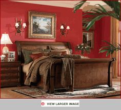 River Ridge King Bedroom Set With Door Nightstand This Is The Set I Want From Furniture Row