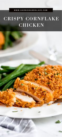 Four Kitchen Decorating Suggestions Which Can Be Cheap And Simple To Carry Out Simple And Crispy Cornflake Chicken Is A Delicious Main Dish That Your Family Is Sure To Love. Pair It With A Side Of Green Beans And Potatoes For A Yummy Sunday Dinner Sunday Recipes, Easy Dinner Recipes, Meal Recipes, Turkey Recipes, Yummy Recipes, Dinner Ideas, Yummy Food, Tasty, Low Carb Chicken Recipes