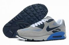 Nike Air Max 90 VT Classic s gris / blanco / azul http://www.esnikerun.com/