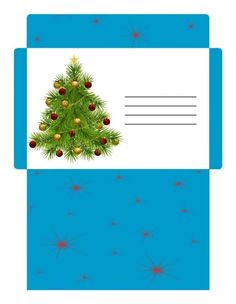 Enveloppe fantaisie pour enfant à imprimer à Noël Christmas Envelopes, Christmas Stationery, Christmas Gift Box, Winter Christmas, Handmade Christmas, Christmas Cards, Santa Letter Template, Diy Envelope, Printable Recipe Cards