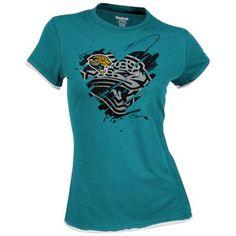 Reebok Jacksonville Jaguars Ladies Splash Of Love Cap Sleeve T-Shirt - Teal   Fanatics e02b825c8