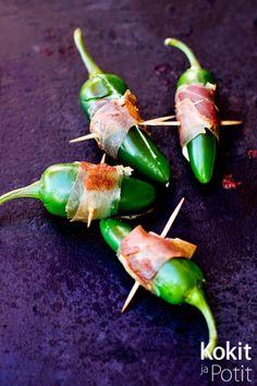 Jalapeno Poppers eli tuorejuustotäytteiset chilit | Kokit ja Potit -ruokablogi