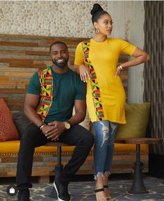 Items similar to Ankara printed t-shirt gift for boyfriend and girlfriend on Etsy - African fashion Couples African Outfits, African Dresses Men, African Blouses, African Attire For Men, African Clothing For Men, African Fashion Ankara, African Inspired Fashion, Latest African Fashion Dresses, African Print Fashion