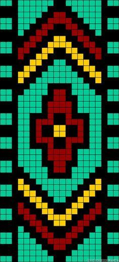 It is a website for handmade creations,with free patterns for croshet and knitting , in many techniques & designs. Seed Bead Patterns, Peyote Patterns, Beading Patterns, Stitch Patterns, Bead Loom Bracelets, Beaded Bracelet Patterns, Crochet Chart, Bead Crochet, Beaded Hat Bands