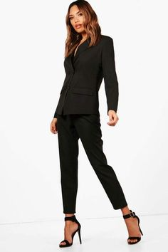 8acb7cad60dd boohoo Erin Straight Leg Woven Suit Trouser Slacks For Women, Trousers  Women, Suits For