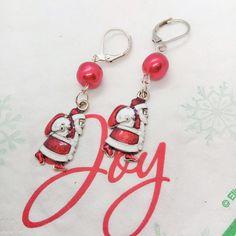 gift idea Hoop sequins enamelled red