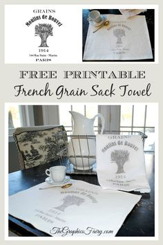 Crafty Project & Printable - French Grain Sack Towel