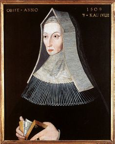 Margaret Beaufort Tudor, wife of Edward Tudor and mother of King Henry VII. Grandmother of Henry VIII.