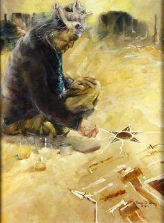 Navajo Sand Painting 1975  by Richard D. Thomas kp