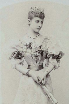 """Princess Charlotte (Charly/Ditta) of Prussia as Duchess of Saxe-Meiningen. (mid 1890's).First cousin of Empress Alexandra Feodorovna of Russia and Grand Duchess Elisabeth Feodorovna Romanova of Russia. """"AL"""""""