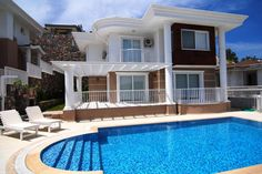 3 bedroom villa to rent in Ortaca, Turkey with private pool. Near the beach. Beach Villa, Private Pool, Villas, Turkey, Mansions, Bedroom, House Styles, Holiday, Home