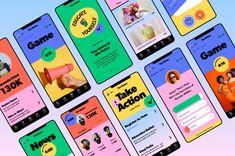 Amy Martino › The States App Design App Ui Design, Mobile App Design, Interface Design, Mobile Ui, Graphic Design Posters, Typography Design, Branding Design, Web Layout, Layout Design