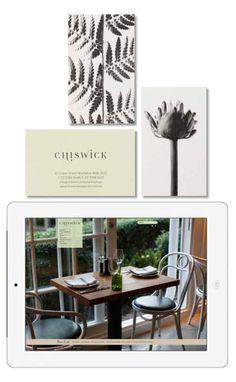 Chiswick restaurant sydney, identity, menus, website and signage. #Matt Moran, #vince frost, #frost design  http://www.chiswickrestaurant.com.au/