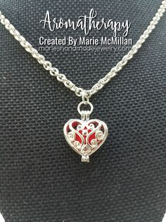 Aromatherapy Defuser Heart Pendant Necklace