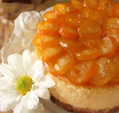 Cherry on a Cake: CANDIED KUMQUATS ON AN ORANGE CHEESECAKE