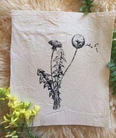 Screenprinted dandelion patch