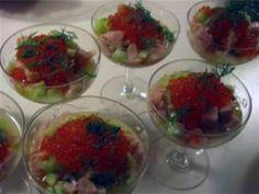 Ceviche på lax på svenskt vis med forellrom
