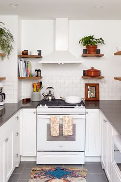 Spruce Street Commons' Mod–Boho Makeover at Touraine apartment building #kitchendesign