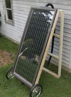 If you've got good sun exposure on one side of your house, you can take advantage of free heat from the sun with this DIY solar heating panel, which uses old soda cans to collect and transfer the sun's energy into your house.