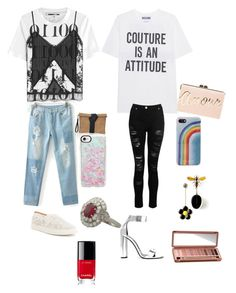"""Geen titel #102"" by nadiraazat on Polyvore featuring McQ by Alexander McQueen, Moschino, Dorothy Perkins, Antonio Melani, Tom Ford, BCBGMAXAZRIA, Casetify, Marc Jacobs, Chanel en Urban Decay"