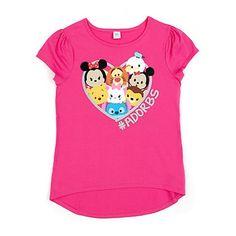 Disney Store Tsum Tsum #ADORBS Organic 100% Cotton T-Shirt - Girls XL 14 #Disney #Everyday